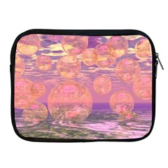 Glorious Skies, Abstract Pink And Yellow Dream Apple Ipad Zippered Sleeve