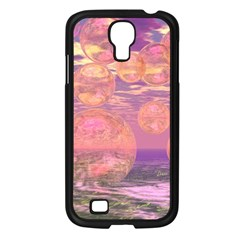 Glorious Skies, Abstract Pink And Yellow Dream Samsung Galaxy S4 I9500/ I9505 Case (Black)