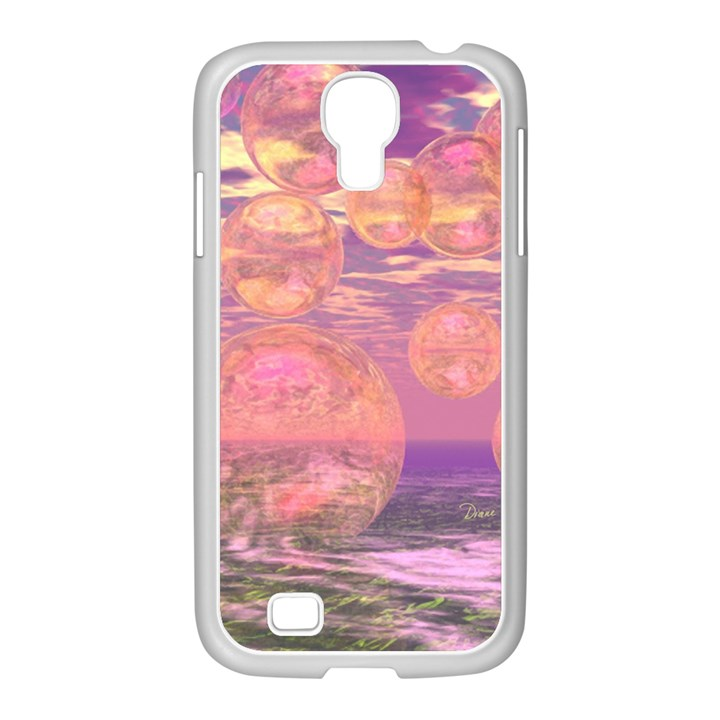 Glorious Skies, Abstract Pink And Yellow Dream Samsung GALAXY S4 I9500/ I9505 Case (White)