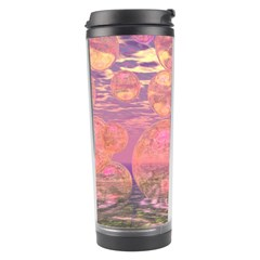 Glorious Skies, Abstract Pink And Yellow Dream Travel Tumbler