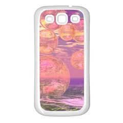 Glorious Skies, Abstract Pink And Yellow Dream Samsung Galaxy S3 Back Case (White)