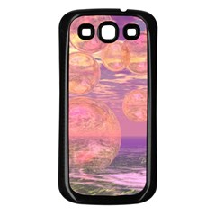 Glorious Skies, Abstract Pink And Yellow Dream Samsung Galaxy S3 Back Case (Black)