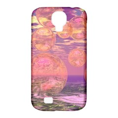 Glorious Skies, Abstract Pink And Yellow Dream Samsung Galaxy S4 Classic Hardshell Case (PC+Silicone)