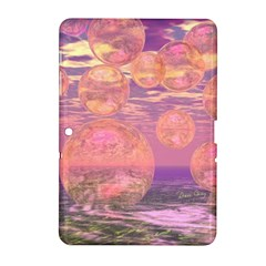 Glorious Skies, Abstract Pink And Yellow Dream Samsung Galaxy Tab 2 (10.1 ) P5100 Hardshell Case