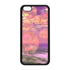Glorious Skies, Abstract Pink And Yellow Dream Apple Iphone 5c Seamless Case (black)