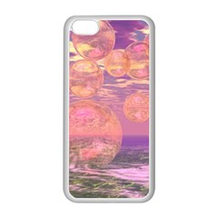 Glorious Skies, Abstract Pink And Yellow Dream Apple iPhone 5C Seamless Case (White)