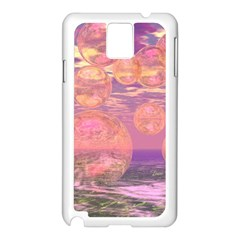 Glorious Skies, Abstract Pink And Yellow Dream Samsung Galaxy Note 3 N9005 Case (White)