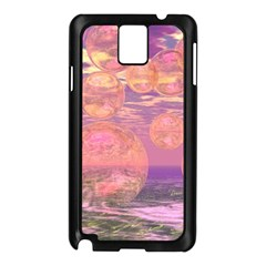 Glorious Skies, Abstract Pink And Yellow Dream Samsung Galaxy Note 3 N9005 Case (Black)