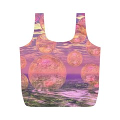 Glorious Skies, Abstract Pink And Yellow Dream Reusable Bag (m)