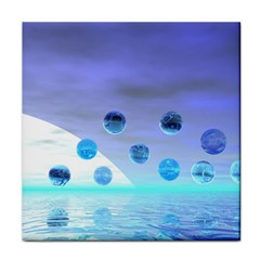 Moonlight Wonder, Abstract Journey To The Unknown Ceramic Tile