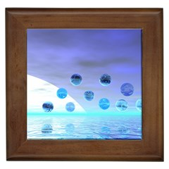 Moonlight Wonder, Abstract Journey To The Unknown Framed Ceramic Tile