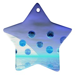 Moonlight Wonder, Abstract Journey To The Unknown Star Ornament