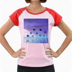 Moonlight Wonder, Abstract Journey To The Unknown Women s Cap Sleeve T-Shirt (Colored)