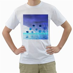 Moonlight Wonder, Abstract Journey To The Unknown Men s Two Sided T Shirt (white)