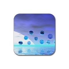 Moonlight Wonder, Abstract Journey To The Unknown Drink Coasters 4 Pack (Square)