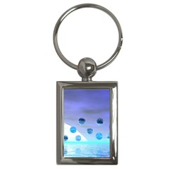 Moonlight Wonder, Abstract Journey To The Unknown Key Chain (Rectangle)