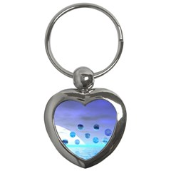 Moonlight Wonder, Abstract Journey To The Unknown Key Chain (heart)