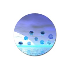 Moonlight Wonder, Abstract Journey To The Unknown Magnet 3  (round)