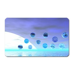 Moonlight Wonder, Abstract Journey To The Unknown Magnet (rectangular)