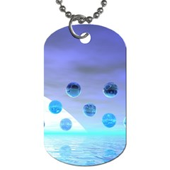Moonlight Wonder, Abstract Journey To The Unknown Dog Tag (One Sided)