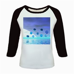 Moonlight Wonder, Abstract Journey To The Unknown Kids Long Cap Sleeve T-Shirt