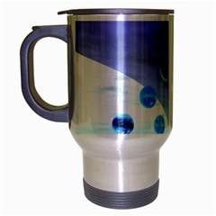 Moonlight Wonder, Abstract Journey To The Unknown Travel Mug (silver Gray)