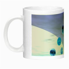 Moonlight Wonder, Abstract Journey To The Unknown Glow in the Dark Mug