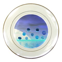 Moonlight Wonder, Abstract Journey To The Unknown Porcelain Display Plate