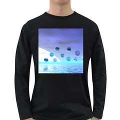 Moonlight Wonder, Abstract Journey To The Unknown Men s Long Sleeve T Shirt (dark Colored)