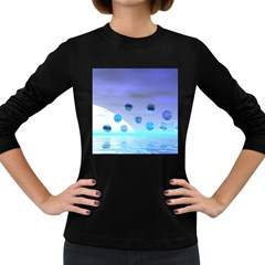 Moonlight Wonder, Abstract Journey To The Unknown Women s Long Sleeve T-shirt (Dark Colored)