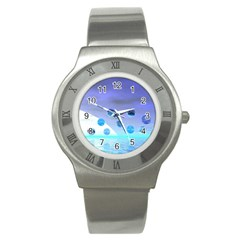 Moonlight Wonder, Abstract Journey To The Unknown Stainless Steel Watch (Slim)