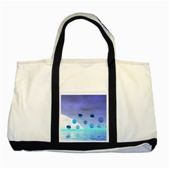 Moonlight Wonder, Abstract Journey To The Unknown Two Toned Tote Bag