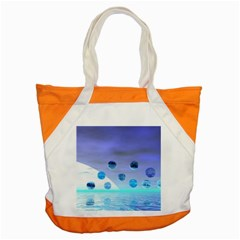 Moonlight Wonder, Abstract Journey To The Unknown Accent Tote Bag
