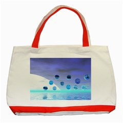 Moonlight Wonder, Abstract Journey To The Unknown Classic Tote Bag (Red)