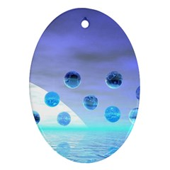 Moonlight Wonder, Abstract Journey To The Unknown Oval Ornament (Two Sides)