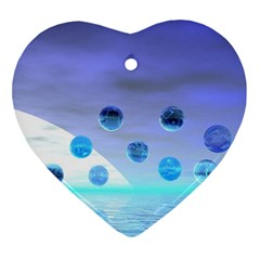 Moonlight Wonder, Abstract Journey To The Unknown Heart Ornament (Two Sides)