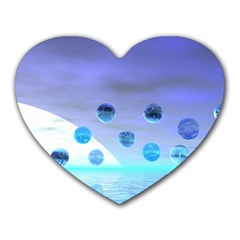 Moonlight Wonder, Abstract Journey To The Unknown Mouse Pad (Heart)