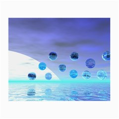 Moonlight Wonder, Abstract Journey To The Unknown Glasses Cloth (Small, Two Sided)