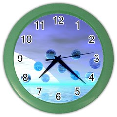 Moonlight Wonder, Abstract Journey To The Unknown Wall Clock (Color)