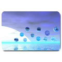 Moonlight Wonder, Abstract Journey To The Unknown Large Door Mat