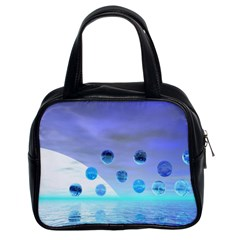 Moonlight Wonder, Abstract Journey To The Unknown Classic Handbag (two Sides)
