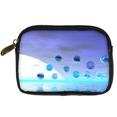 Moonlight Wonder, Abstract Journey To The Unknown Digital Camera Leather Case