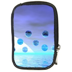 Moonlight Wonder, Abstract Journey To The Unknown Compact Camera Leather Case
