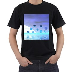 Moonlight Wonder, Abstract Journey To The Unknown Men s T Shirt (black)