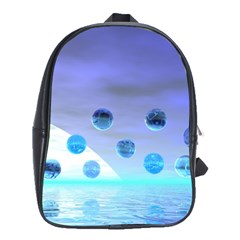 Moonlight Wonder, Abstract Journey To The Unknown School Bag (Large)