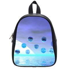 Moonlight Wonder, Abstract Journey To The Unknown School Bag (Small)