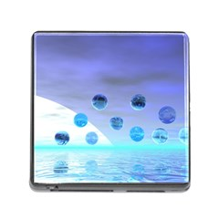 Moonlight Wonder, Abstract Journey To The Unknown Memory Card Reader with Storage (Square)