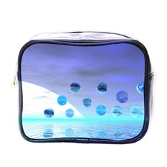Moonlight Wonder, Abstract Journey To The Unknown Mini Travel Toiletry Bag (One Side)