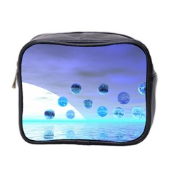 Moonlight Wonder, Abstract Journey To The Unknown Mini Travel Toiletry Bag (Two Sides)