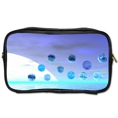 Moonlight Wonder, Abstract Journey To The Unknown Travel Toiletry Bag (Two Sides)